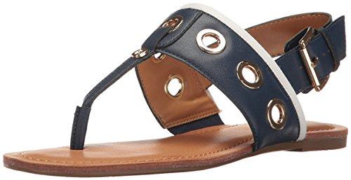 Tommy Hilfiger Women's Lerry Flat Sandal, Navy, 6 Medium US