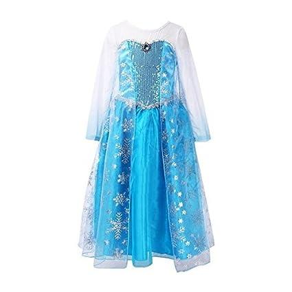 Frbelle® Vestido de Pricesa Disfraz de Ceremonia Cosplay Fiesta Halloween Regalo de Cumpleaños para Niñas