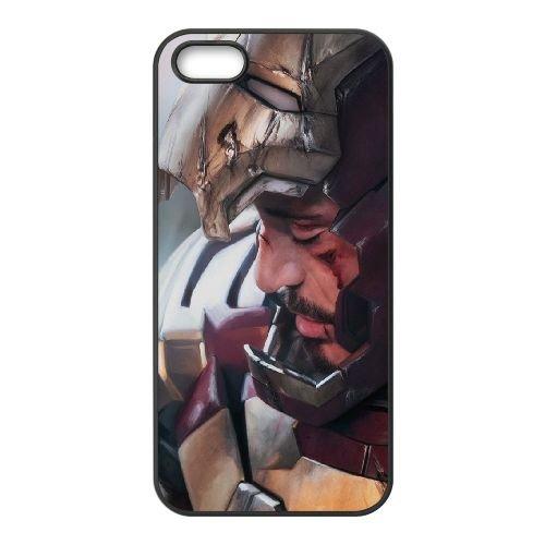 901 Ironmen L coque iPhone 5 5S cellulaire cas coque de téléphone cas téléphone cellulaire noir couvercle EOKXLLNCD21138