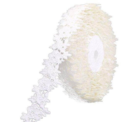 Amazon.com: Patrón eDealMax Flor de poliéster casa Vestido de Pelo Regalo de la decoración DIY de artesanía Rollo de Cinta Beige: Health & Personal Care