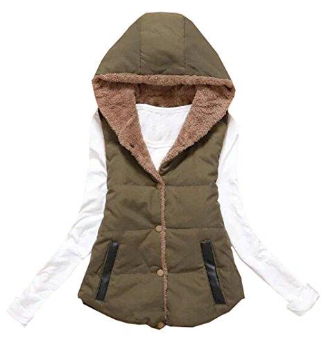 スローアサートあいまいさ雲の花 女性のルーズベストジャケットコットンジャケット大きな毛皮の襟長い段落の綿