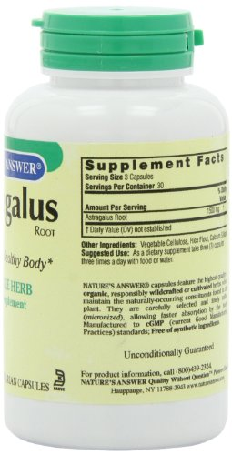 Nature's Answer Astragalus Root, 90-Count - 41hCkEqYMZL - Nature's Answer Astragalus Root, 90-Count
