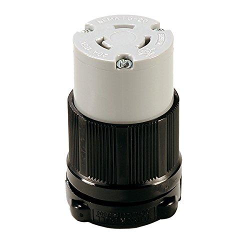 Twist-Lock NEMA L5-20R Replacement Connector Easy Assembly - Durable Nylon Construction - WBL520R - Rewireable