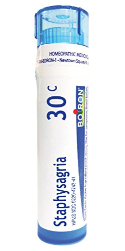 Boiron Staphysagria 30C (Pack of 5), Homeopathic Medicine...