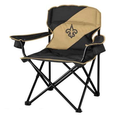 NFL New Orleans Saints Sideliner Folding Tailgate Camping Beach Chair