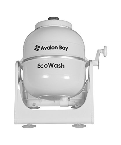 Avalon Bay Ecowash Portable Hand Cranked Manual Clothes Non-Electric Washing Machine, Counter Top Washer for Camping, Apartments, RV's, or Delicates (Electric Washing Machine)