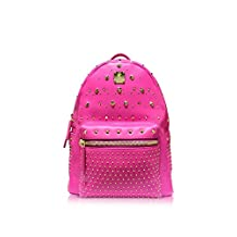 Mcm Women's Mmk7sve70pn001 Pink Leather Backpack
