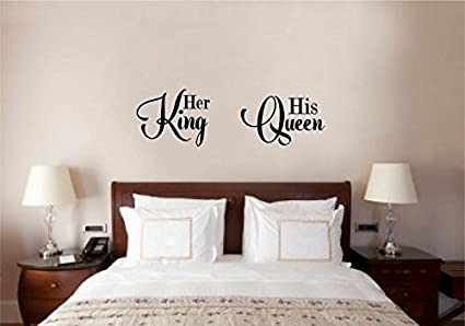Enchantingly Elegant ll007d His Queen Her King Wedding Valentines Love Wall  Décor Stickers