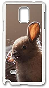 Cute Bunny Soap Bubbles Case Cover for Samsung Galaxy Note 4, Note 4 Case, Galaxy Note 4 Case Cover