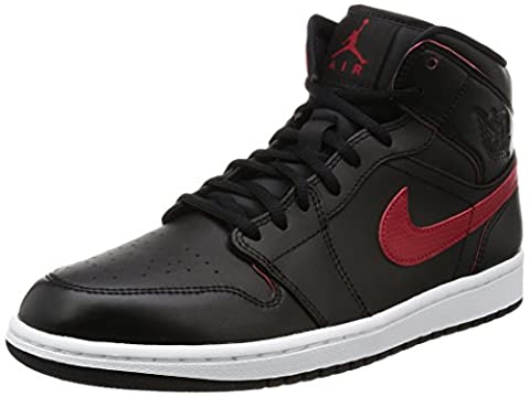 Nike Jordan Men's Air Jordan Mid Black/Team Red/Team Red/White Basketball Shoe 9.5 Men US - Italian Air