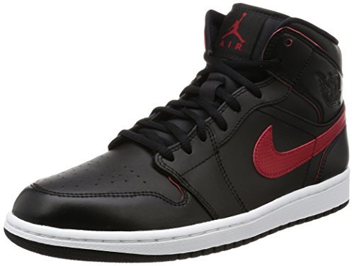 jordan-mens-air-jordan-1-mid-shoes-black-team-red-team-red-white-size-95