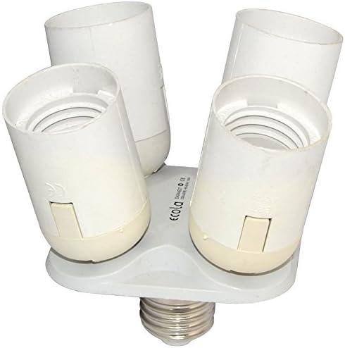 PBT Photo Studio Softbox Socket Splitter Light Lamp 3 in 1 Base Holder Adapter
