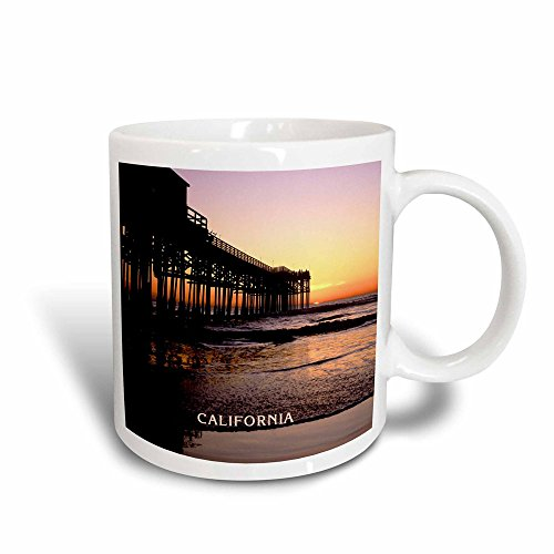 3dRose mug_101793_3 Sunset At Crystal Pier in San Diego California Magic Transforming Mug, - Outlet California San Diego