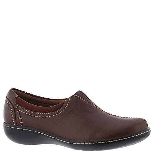 CLARKS Women's Ashland Joy Shoe, Dark Tan Leather, 95 W US