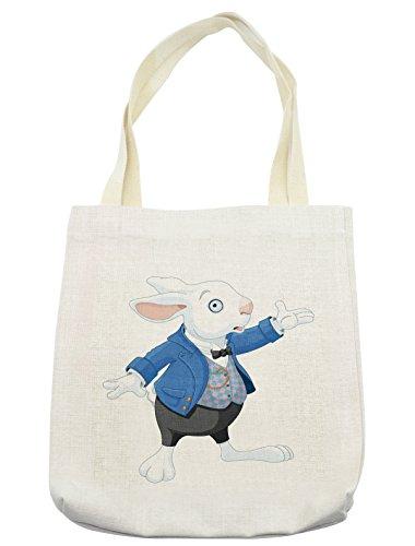 Lunarable Alice in Wonderland Tote Bag, Rabbit is