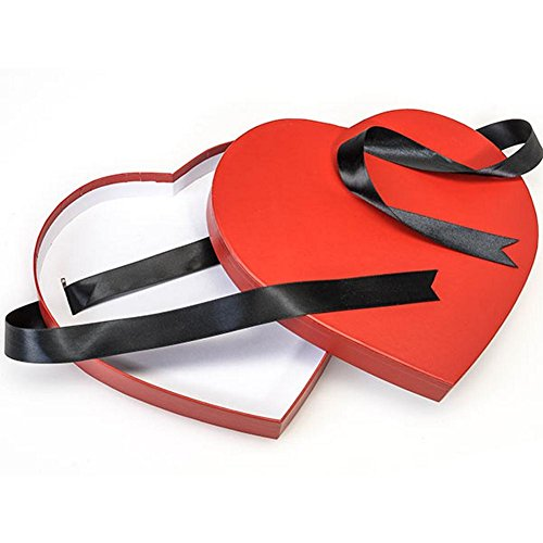 Red Large Matte Heart Shaped Boxes - 9 1/4 x 8 1/8 x 1 1/4in. - 39 Pack by NW