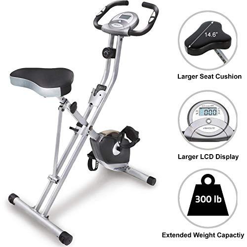 Exerpeutic Folding Magnetic Upright Exercise Bike with Pulse (Renewed)