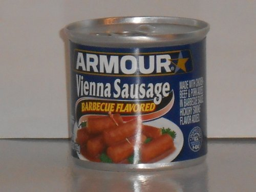 (ARMOUR VIENNA SAUSAGE BARBECUE FLAVORED 4.75 oz / 10 cans get 2 FREE )