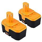 2Pack 18V 3600mAh Battery for Ryobi Ni-MH One+ Plus P100 P101 ABP1801 ABP1803 130224028 130224007 Cordless Power Tools