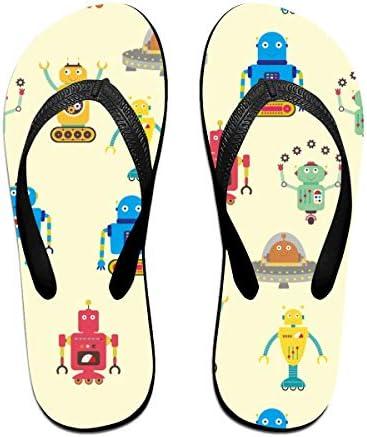 ビーチシューズ ロボット 漫画 ビーチサンダル 島ぞうり 夏 サンダル ベランダ 痛くない 滑り止め カジュアル シンプル おしゃれ 柔らかい 軽量 人気 室内履き アウトドア 海 プール リゾート ユニセックス
