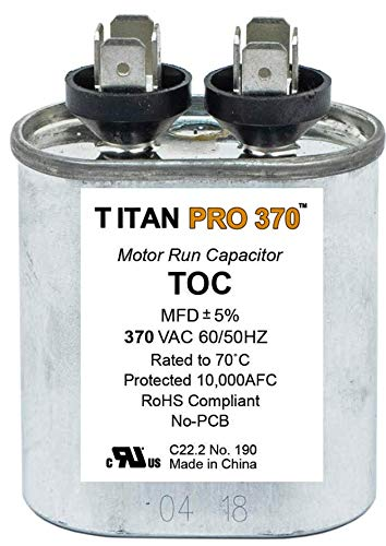 (Packard 370 Volt Oval Run Capacitor 7.5 MFD)