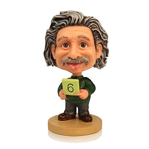 Doll Albert Einstein (MING PEOPLE Custom Polyresin Einstein Bobblehead For Collection,Souvenir gift)