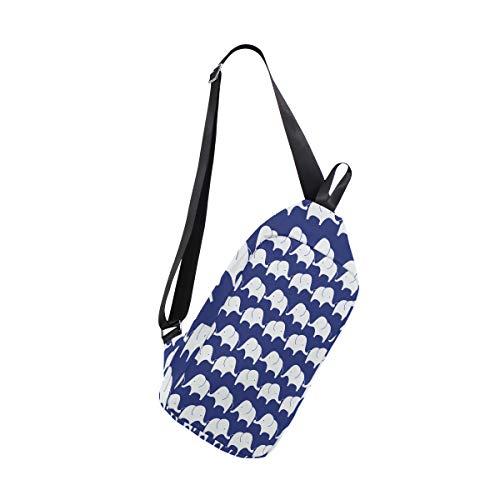 Sling Bag Cute Elephant Pattern Womens Chest Shoulder Backpacks Crossbody Military Bag Pack