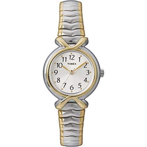 Timex Women's T21854 Pleasant Street Two-Tone Stainless Steel Expansion Band Watch (Band Watch Expansion)