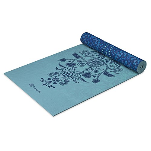 Gaiam Reversible Premium Print Yoga Mat, Mystic Sky, 6mm