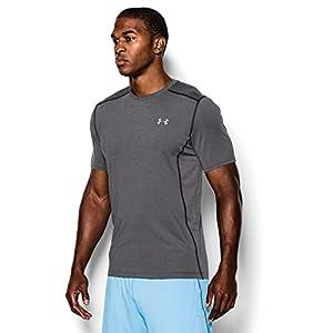 Under Armour Men's Raid Short Sleeve T-Shirt, Carbon Heather (090)/Steel, Large