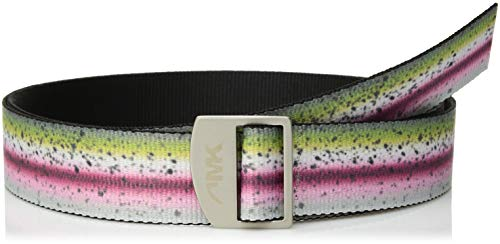 Mountain Khakis Unisex Trout Webbing Belt, Rainbow Trout, One - Long Trout