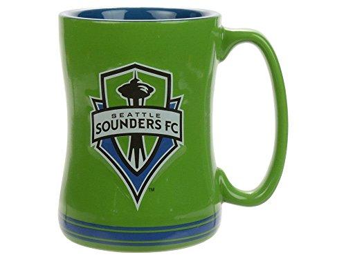 Boelter Brands MLS Seattle Sounders FC Relief Mug, Green, 14 oz