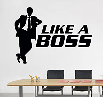 office wall stickers. Office Wall Decals Like A Boss Man Suit Decor Stickers Vinyl MK1025 Office Wall Stickers E