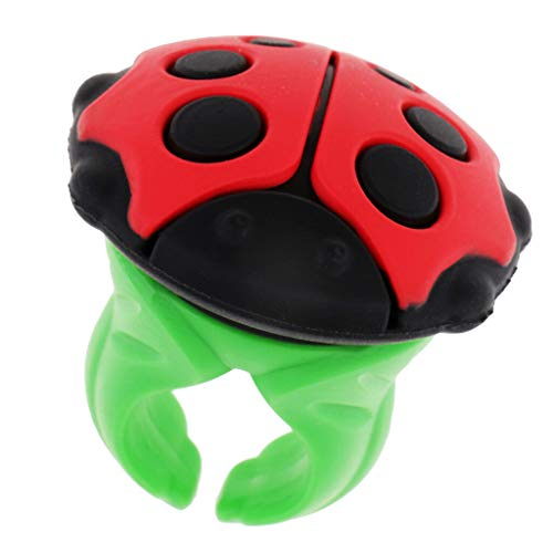Cute Ladybird Ring Shape Sewing Needles Pin Cushion Buttons Storage Holder | Color - Ladybug