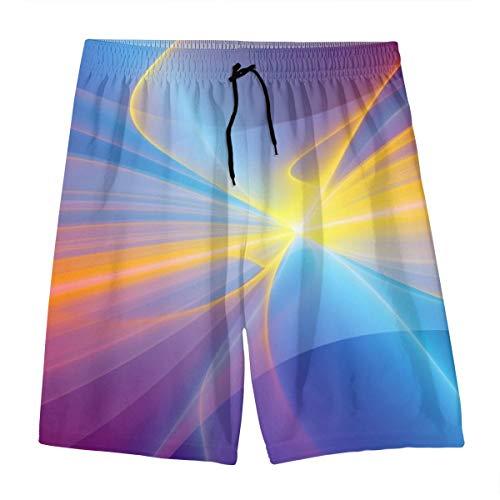 Men's Board Shorts Colorful Rainbow Quick Dry Swim