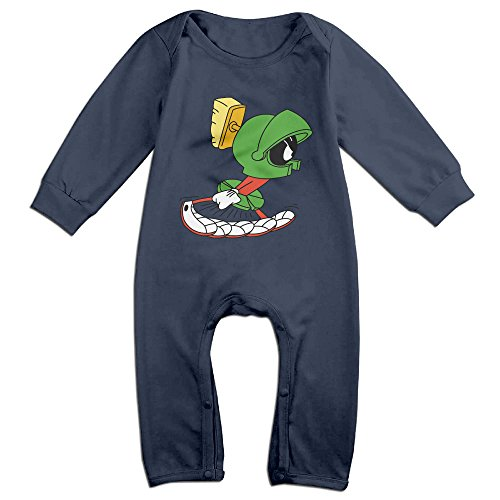 [PCY Newborn Babys Boy's & Girl's Marvin The Martian Running Long Sleeve Jumpsuit Outfits For 6-24 Months Navy Size 24] (Looney Tunes Martian Costume)
