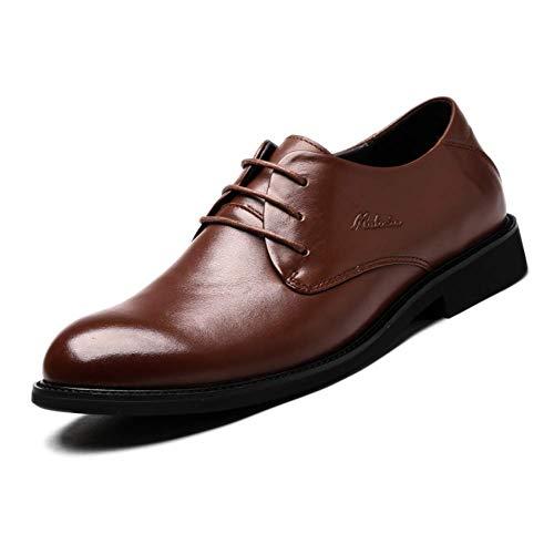 a UK Color Negro Boda tamaño de Cordones para Color para Hombres 8 Formal Negro Zapatos Hombres 9 Talla de 8 HhGold Vestir 5 Marrón de para US de UK Cuadros Cuero 5 US Zapatos Hombres 7 p4WtwHq