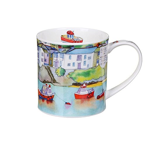 (Dunoon Lovely Ceramics Seaside Boats Harbour View Orkney Style Mug)