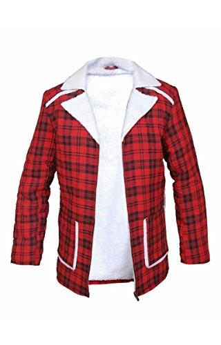 New Deadpool Ryan Reynolds Shearling Jacket coat,XL