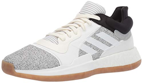 adidas Men's Marquee Boost Low, White/Black, 11.5 M US