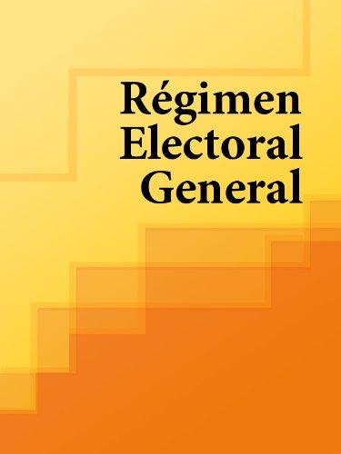Descargar Libro Régimen Electoral General De Los Libros Los Libros De Derecho
