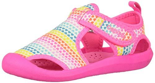 OshKosh B'Gosh Aquatic Girl's and Boy's Water Shoe, Rainbow 5 M US Toddler