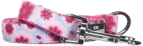 """Blueberry Pet 3 Patterns Durable Vibrant African Pink Floral Dog Leash 5 ft x 3/4"""", Medium, Leashes for Dogs"""