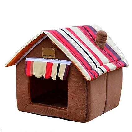 Nido para Mascotas, Cuatro Temporadas de algodón PP, extraíble y Lavable, cálida Villa