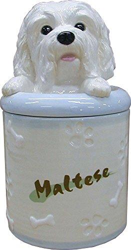 StealStreet SS-D-CJ023, Maltese Collectible Dog Puppy Cookie Jar Container Statue Figurine Art