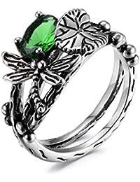 Copper Ring Graceful Wedding Allergy Free 1 pc Silver Black Lotus Leaf Dragonfly