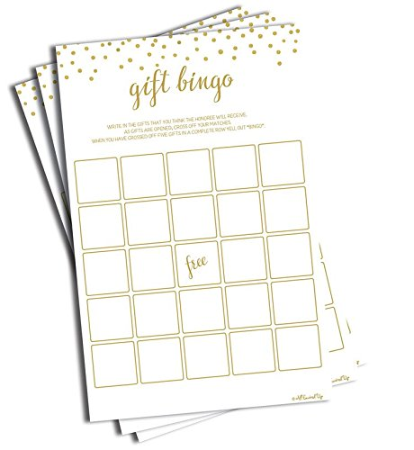 Gift Bingo - Game - Gold Confetti (50-sheets)