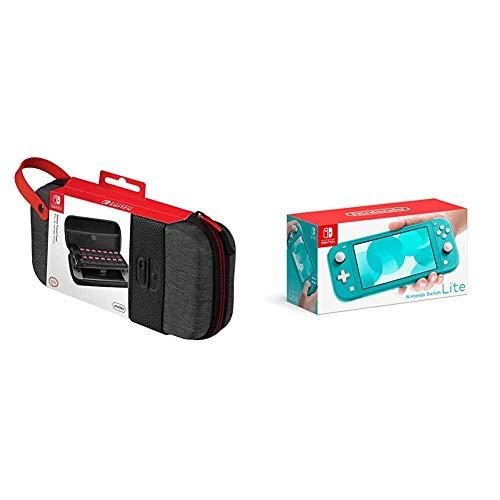 Nintendo Switch Lite - Consola Color Azul Turquesa + Funda Deluxe Travel Case Edición Elite - PDP