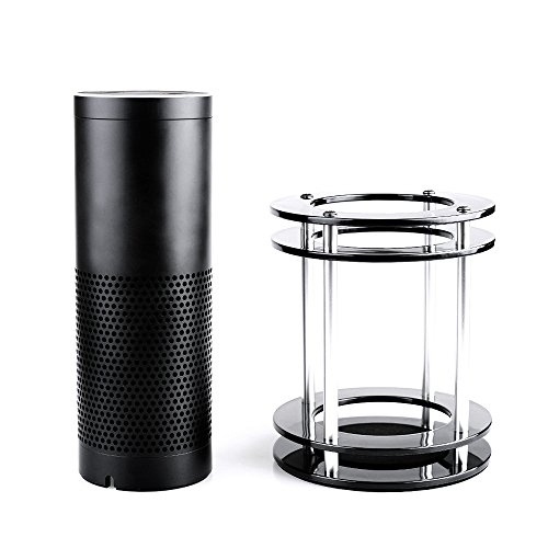 Price comparison product image POWERILLEX Acrylic Stable Stand for Amazon Echo and UE MEGABOOM, Bluetooth Speaker Stand to Protect Alexa Semi-Transparent Black