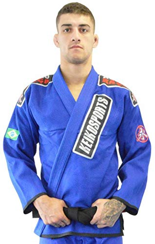 Kimono Jiu Jitsu Série Limitada Keiko Sports Unissex A1 Azul
